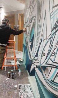 NYX Hotel painting Milano